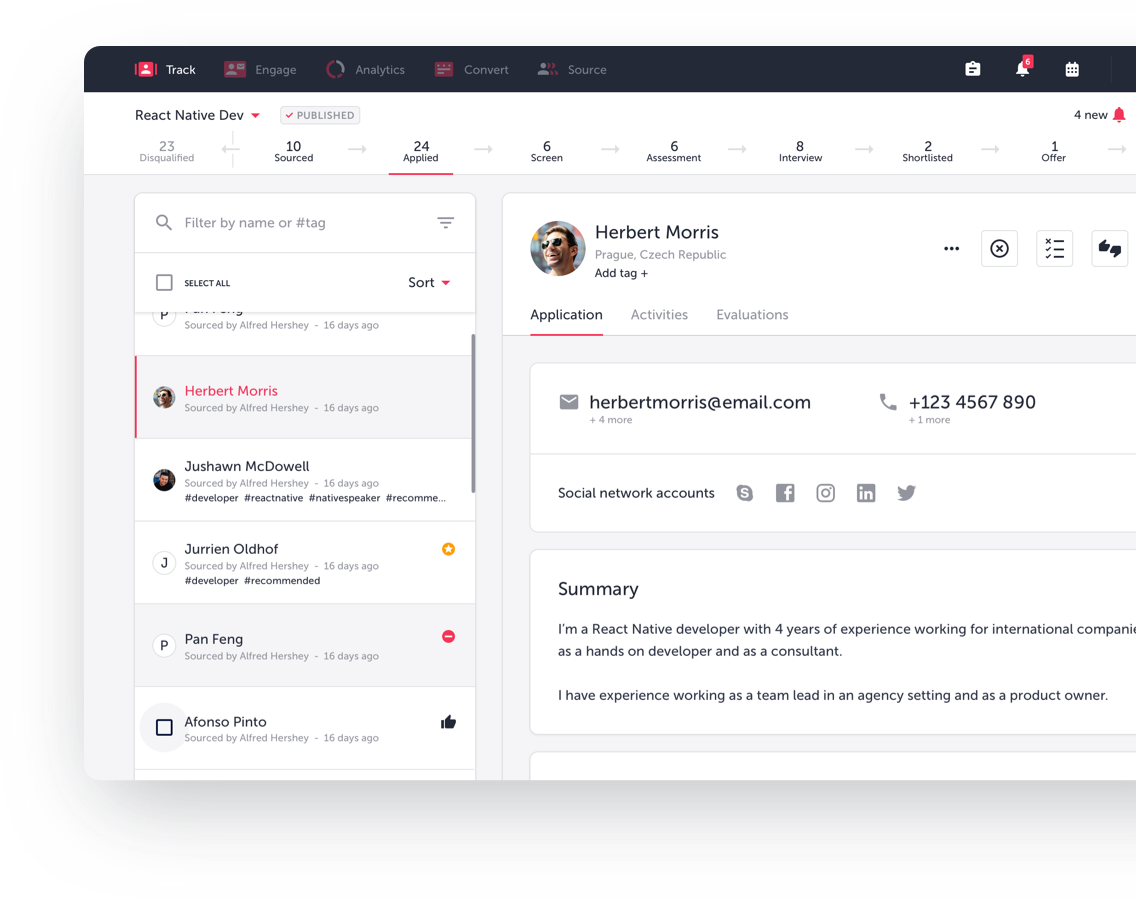 TalentLyft Applicant Tracking System